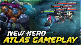 New Hero Atlas Is The Best Tank | Upcoming Hero Gameplay | Mobile Legends Bang Bang |-