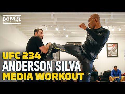 UFC 234: Anderson Silva Open Workout In West Hollywood (Complete) - MMA Fighting