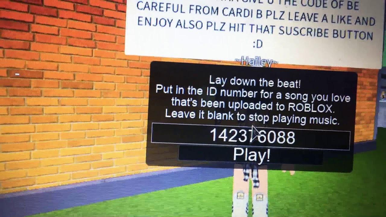 Cardi B Be Careful Roblox Music Code Be Careful Cardi B Boom Box Code Youtube