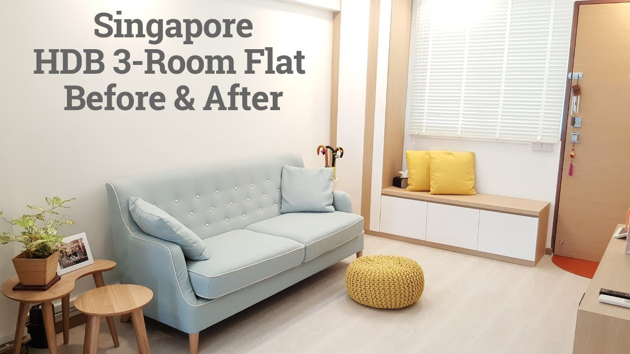 Hdb 3 Room Resale Flat Before And After Renovation Interior Design 新加坡舊三房式组屋裝修前後 Best Home Design Video