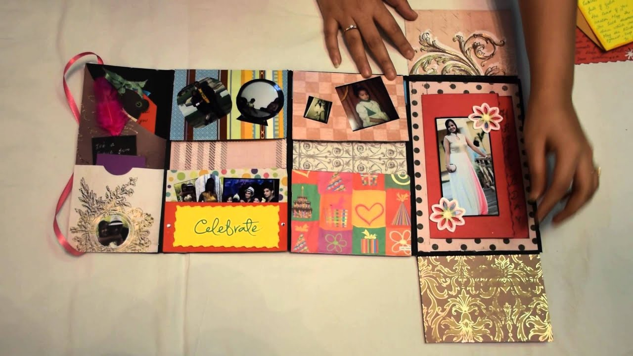 Handmade birthday card mini scrapbook youtube m4hsunfo Images