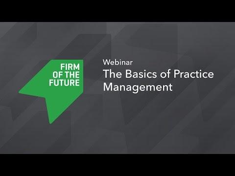 The Basics of Practice Management