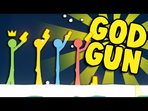 STICK FIGHT GOLDEN GOD GUN! - Stick Fight Pistol Only Challenge! - Stick Fight Gameplay