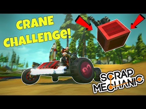 MOBILE CRANE COMPETITION! - Scrap Mechanic Multiplayer Monday Challenge