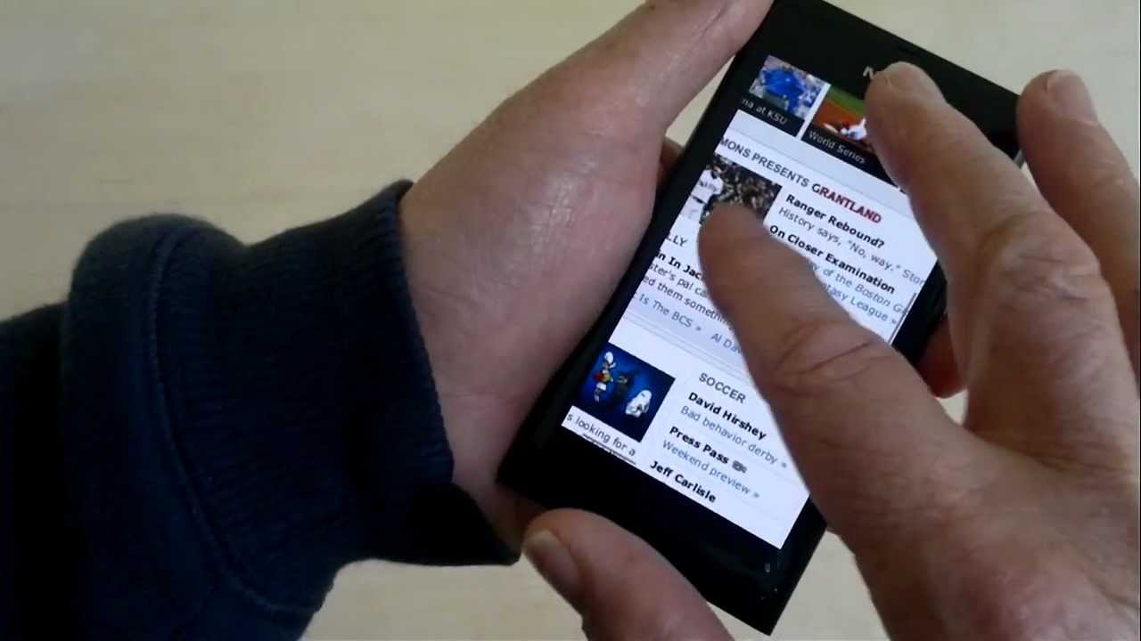 Using Firefox Mobile on the Nokia N9 | Wap Review