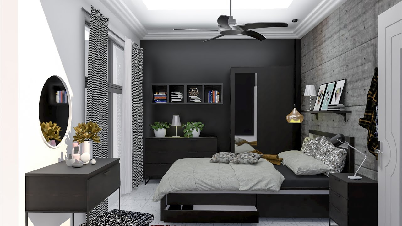 Vray Rendering For Sketchup Black Bedroom Interior Rendering In