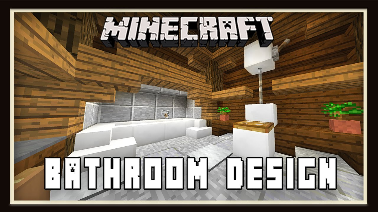 Bathroom Design Minecraft minecraft: bathroom design ( how to build a house - part 13) - youtube