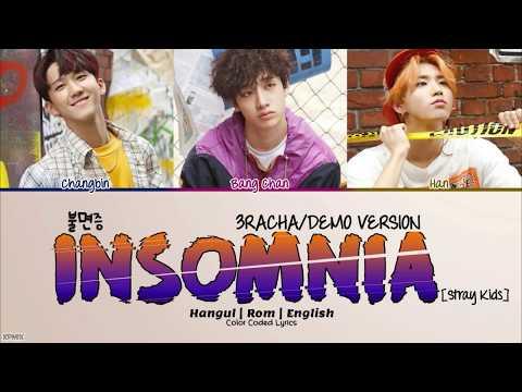 3RACHA/DEMO Version - Insomnia (불면증) Color Coded [Han Rom Eng] Lyrics