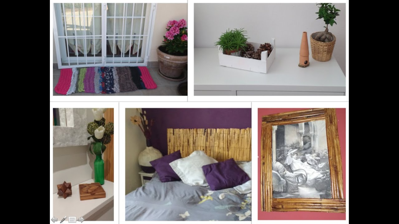 5 ideas decorativas usando materiales reciclados youtube for Ideas decorativas economicas
