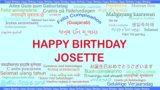 Josette   Languages Idiomas - Happy Birthday