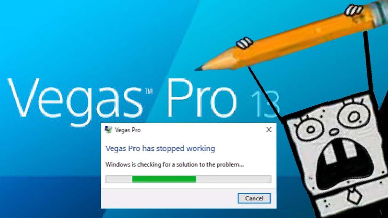 sony vegas pro 13 windows 10 crash