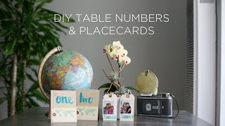 Diy Photo Placecards And Table Numbers - Diy Wedding