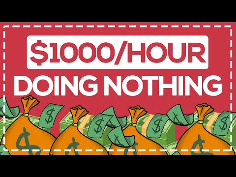Earn $1,000/Hour While SLEEPING (Make Money Online Doing Nothing)