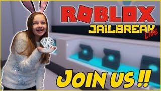 ROBLOX JAILBREAK SNOW DAY LIVE STREAM! COME JOIN THE FUN !