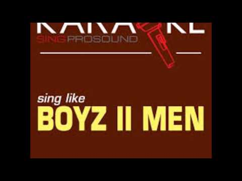 Boyz II Men It's So Hard To Say Goodbye to Yesterday Karaoke   Shawn Wilson Lead Vocal