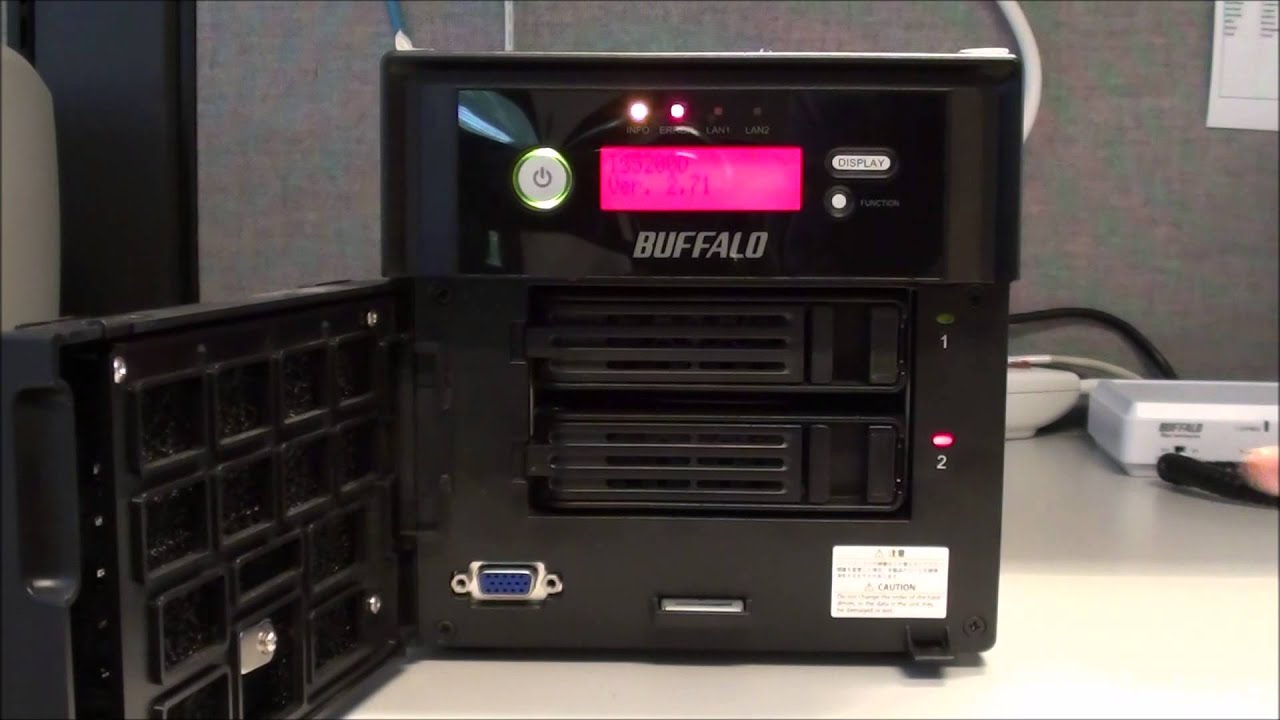 BUFFALO TeraStation - Hot Swap Hard Drive Replacement and RAID Array  Rebuilding