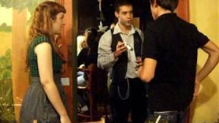 tabaco rubio del italiano en el bar checo