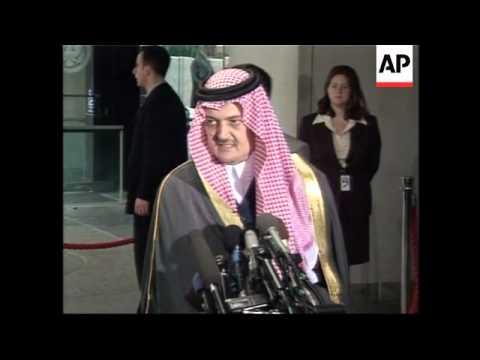 Saudi FM meets Powell, presser