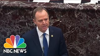 Watch Adam Schiff Deliver His Closing Remarks In The Senate Impeachment Trial | NBC News