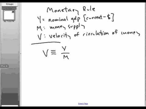 The Monetary Rule: #1 of 3