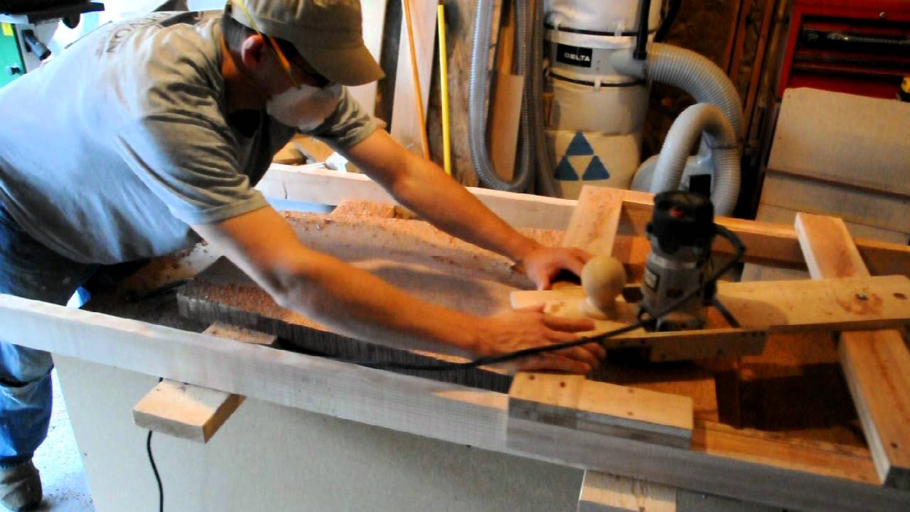 Thickness planing live edge slab wood youtube for How to finish a wood slab