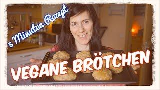 Vegan Brötchen backen in 5 Minuten (Rezept) [VEGAN]