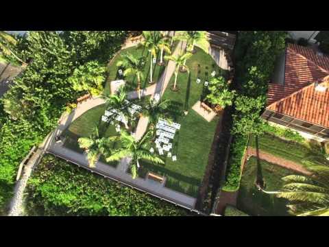Naples Beach, Florida 8th Ave S Drone Flyover 1080p