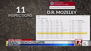 CBS 17 looks into safety history of company involved in fatal trench collapse
