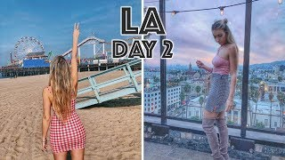 WE'RE MOVING TO HOLLYWOOD, LA VLOG DAY 2, WEST HOLLYWOOD ROOM TOUR & SANTA MONICA | Scarlett London