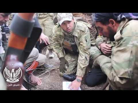 Syria,2019:Turkish Afrin battle supported by the Free Syrian Army in fire fighting and clashes