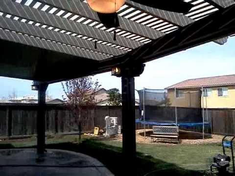 Completed Combination Lattice/Solid Patio Cover