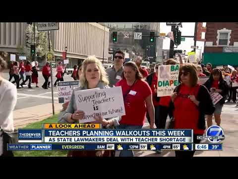 Several Colorado school districts cancel class for teacher walkouts this week