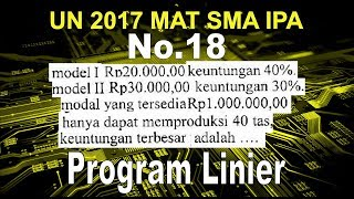 No 18 UN 2017 SMA IPA Program Linier - Matematika Soal dan Pembahasan