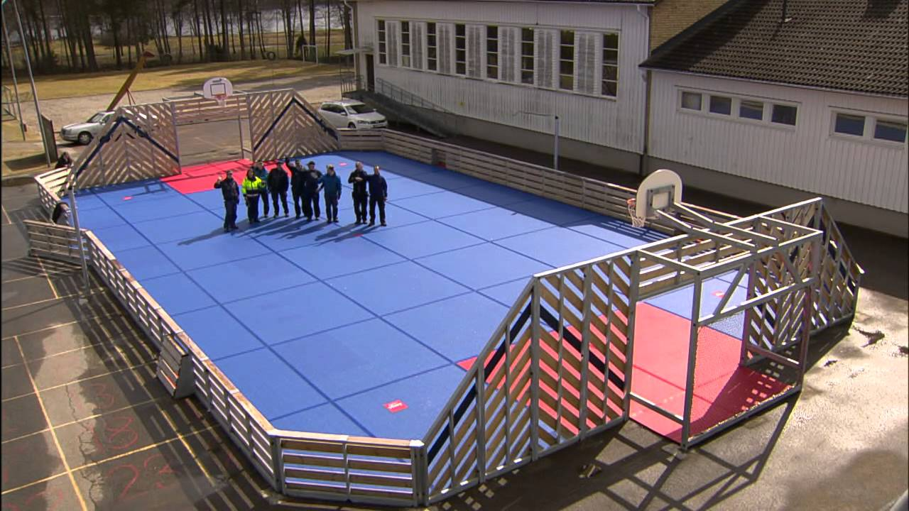 Bergo Multisport Court Installation   YouTube