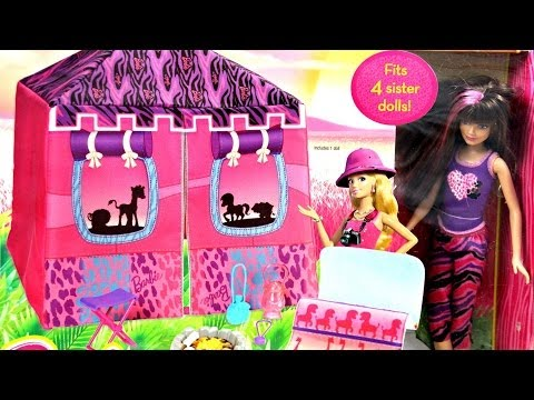 Safari Doll and Tent Playset / Wyprawa Na Safari - Barbie Sisters / Barbie Siostry - BDG23