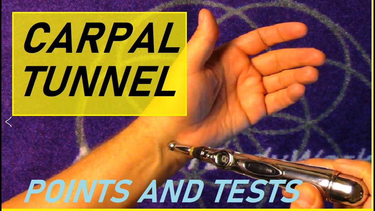 carpal tunnel wrist pain acupuncture pen - YouTube