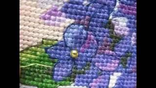 Вышивка Гортензия в цвету-пришиваем бисер - как и чем? Dimensions 6959