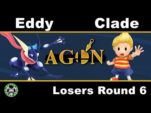 AGON - Eddy (Greninja) Vs. Clade (Lucas) - Losers Round 6 - Smash 4