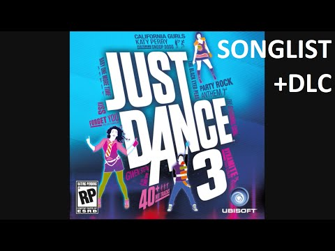 Just Dance 3 - Song List (+DLC)