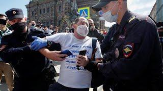 ОМОН в Питере на акции в поддержку Хабаровска.