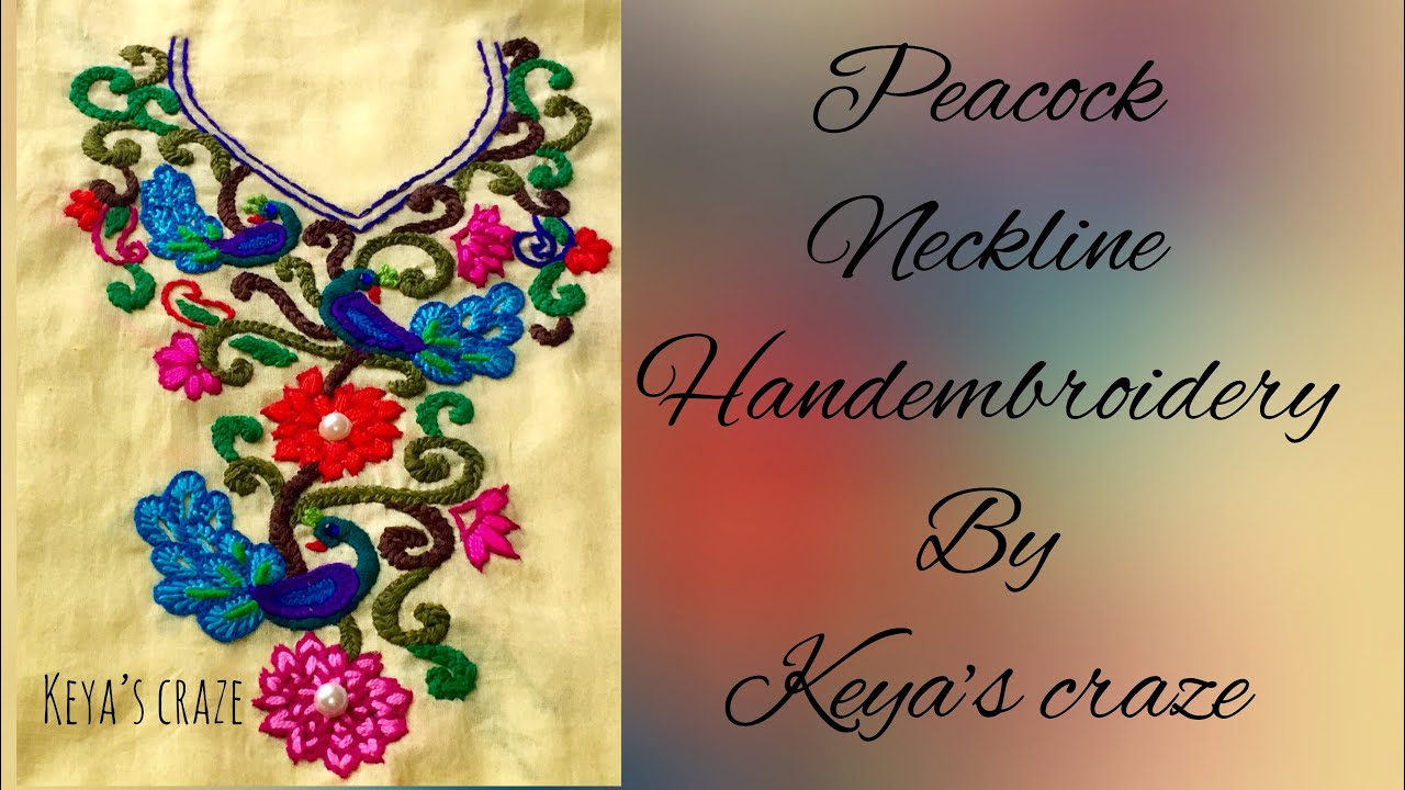 Kutch Embroidery Peacock Designs