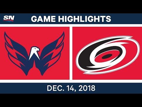 NHL Highlights | Capitals vs. Hurricanes - Dec 14, 2018