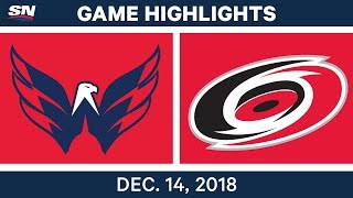 NHL Highlights | Capitals vs. Hurricanes - Dec 14, 2018