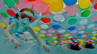 Download FLOATiNG  BALL  PiT  inside the POOL!!  Adley and Niko play underwater & a surprise for new Triplets