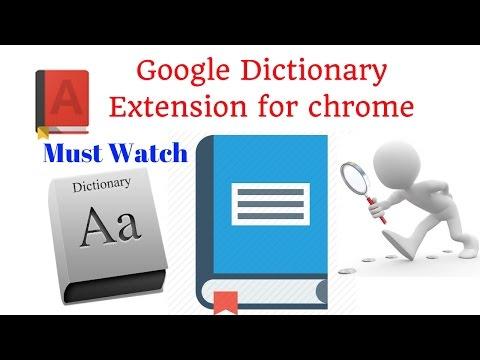 Google Dictionary Extension for chrome | Google Dictionary (by Google) Chrome Web Store