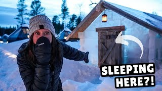 We Slept in a Cabin Made of ICE!