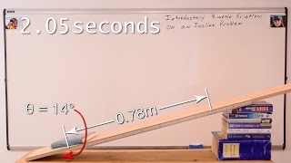 Introductory Kinetic Friction on an Incline Problem
