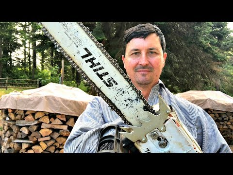Why Loggers Run Upside Down Chainsaw Bars