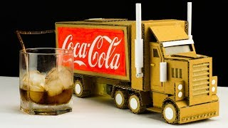 How to make RC Truck from Coca Cola cans and Cardboard - Diy Remote
