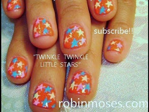 easy star nails design tutorial